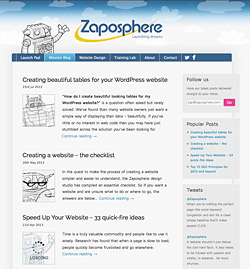Zaposphere Mission Blog