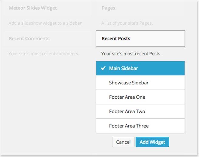 Widget management in WordPress 3.8