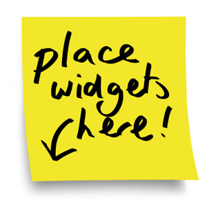 place widgets here memo