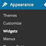 adding a custom widget area