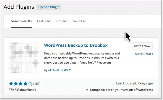 Schedule WordPress backups for free!