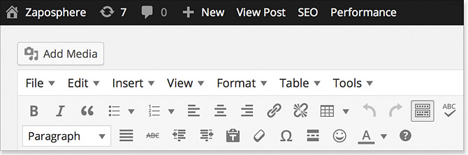 WordPress 4.0 Sticky Toolbar