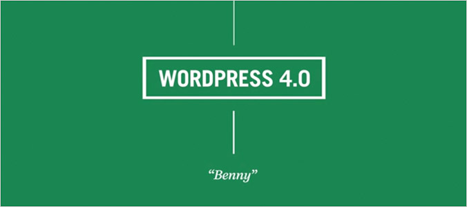 WordPress 4.0 Benny version update
