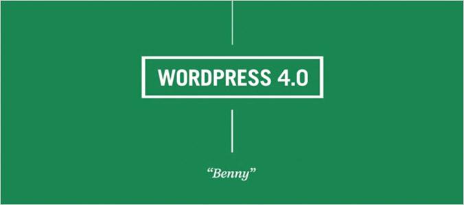 WordPress 4.0 Benny version update