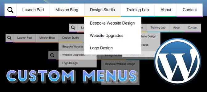 Create custom navigational menus in WordPress