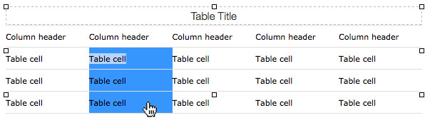 TinyMCE Selecting Table Cells