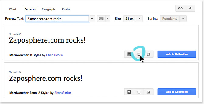 Google Fonts Store
