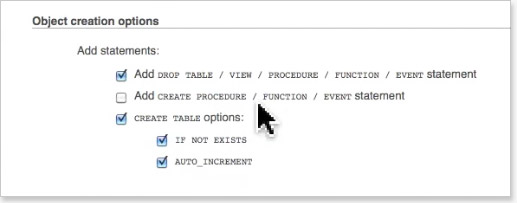 unselect-add-create-event-statement