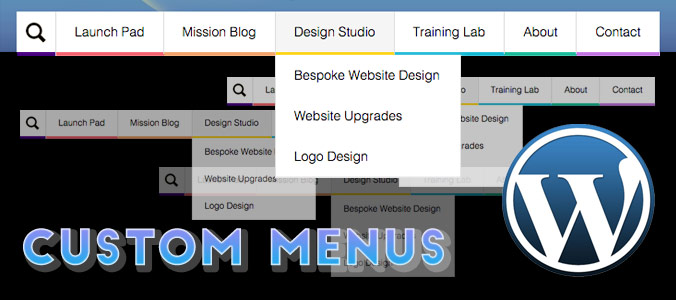 Create custom navigational menus in WordPress