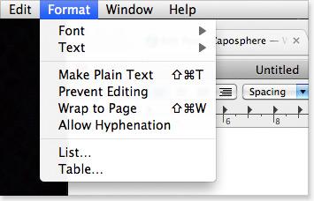 make textedit document plain text before saving